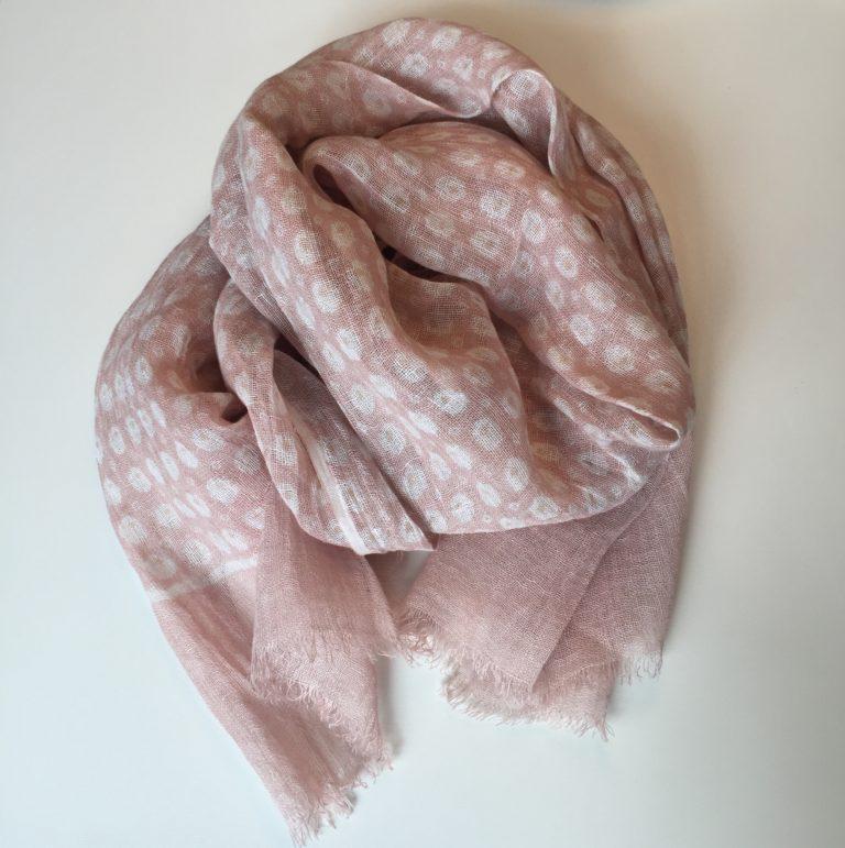 eggs-linen-scarf-pink