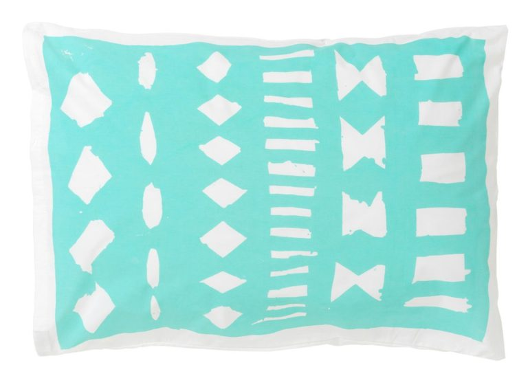 Feliz Hola Mint Blue pillowcase