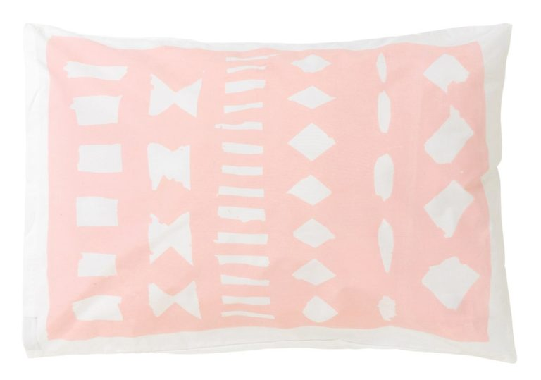 Feliz Hola Pink Yellow pillowcase