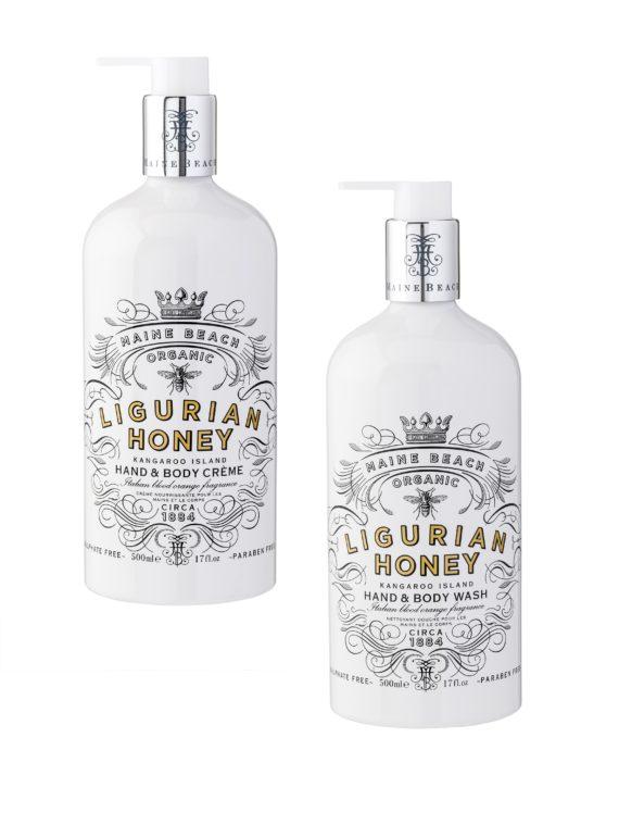 Maine Beach Honey Hand Body Wash Creme Set