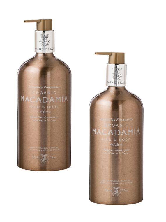 Maine Beach Macadamia Hand Body Wash Creme Set