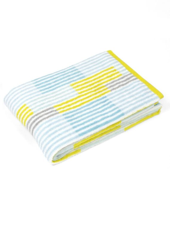 rigato towel in yellow
